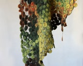 Reserved for XDDX - Cobweb felted shawl lace scarf silk kerchief wool bactus --- Ready to Ship now
