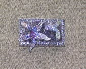 Delicate Hummingbird and Lily Belt Buckle