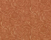 TOOLED LEATHER cotton Moda Fabric 1/2 yd quilting King of the Ranch sewing America western cowboys buckskin brown 1 yard 11216-14