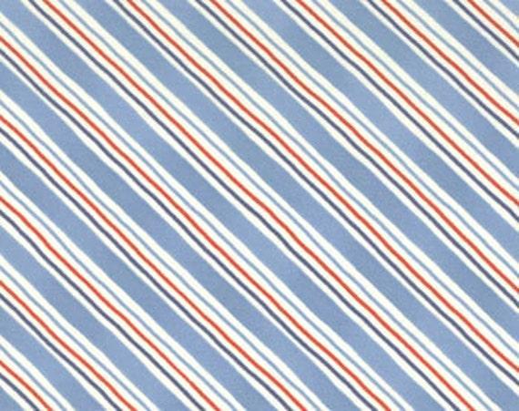 RED WHITE & BOLD Moda modern quilting fabric blue patriotic bias diagonal stripe Sandy Gervais Last Piece 1 yd 17327-14 oop