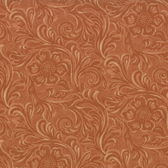 TOOLED LEATHER cotton Moda Fabric 1/2 yd quilting King of the : leather quilting - Adamdwight.com