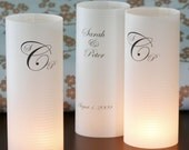25 custom table number or table name luminaries for events, balls, mitzvahs, showers, birthdays