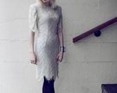 Beaded white dress size M