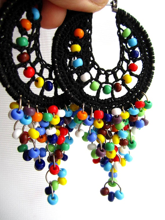 Lolita Crocheted hoops with beads