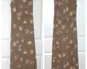 CLEARANCE /// Taupe Floral Maxi
