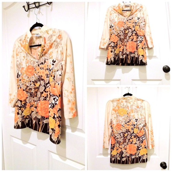 CLEARANCE /// 70s Funky Floral Tunic