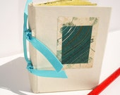 Almost spring handbound mini book of handmade Japanese paper