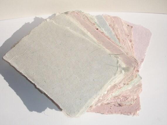 Ten sheets of elegant, strong, thin handmade paper