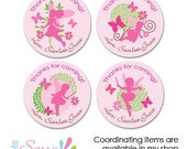 fairy party stickers - custom fairy stickers for girls