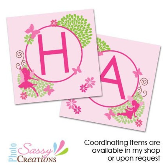 Items Similar To Printable Fairy Birthday Banner