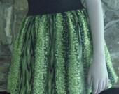 High elastic waist skirt