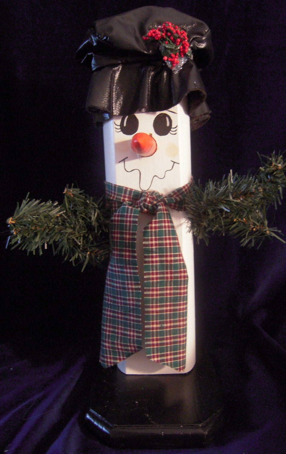 Fence Post Snowman by santashelpers on Etsy