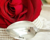 Vintage love silver plated spoon  silverware valentines day mothers day beachhouseliving  on etsy