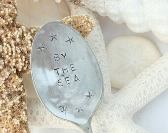 Vintage silverware garden marker by the sea starfish recycled wedding favor gift tag silver plated