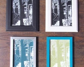 Sunday Stroll Print, Frame Options & Multiple Colors, 5 x 7in