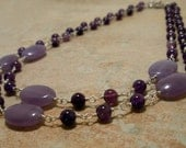 Amethyst and Purple Jade Necklace