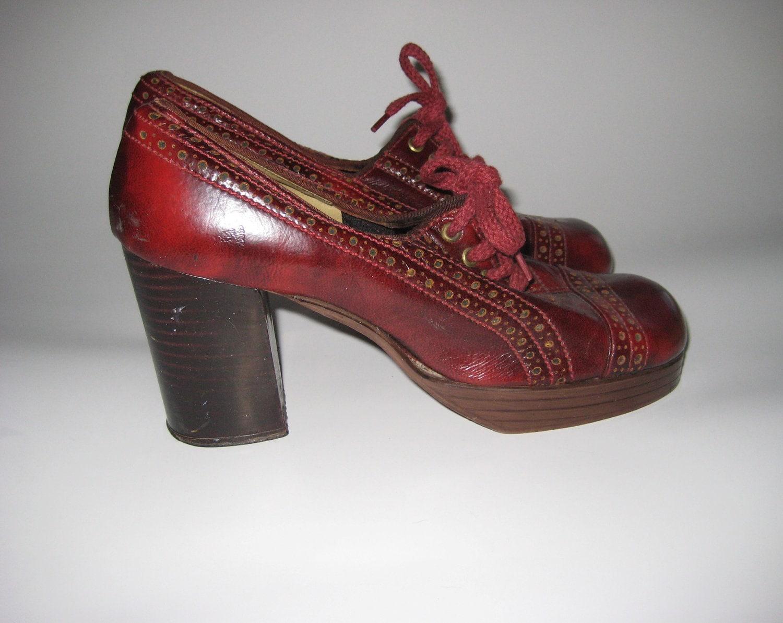 sale sale 1960s platform oxford saddle shoes marbled