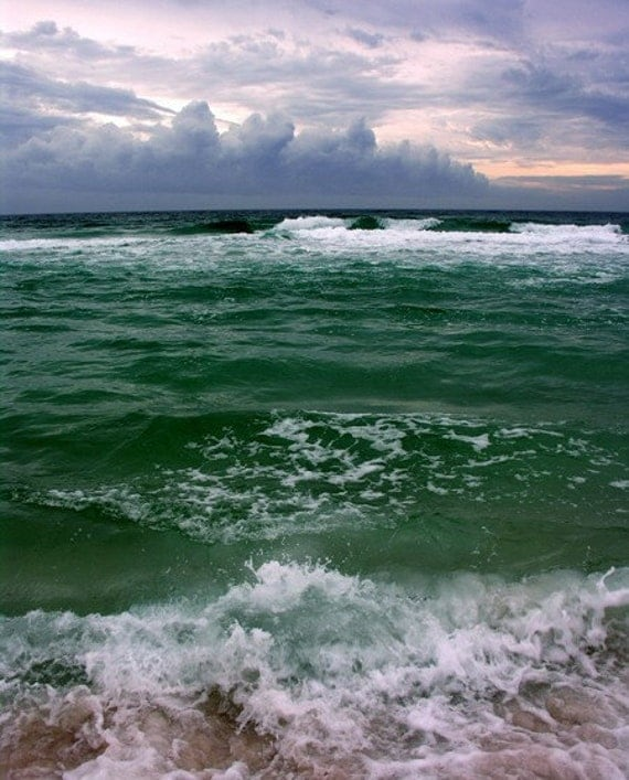5 DOLLAR CLEARANCE SALE - Classic Scenic Beachscape Rolling Waves - 8x10 High Quality Photo Print