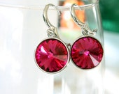 Swarovski Rivoli Earrings - Crystal Earrings - Simple Earrings - Everyday Earrings - Dangle Earrings - Casual Earrings