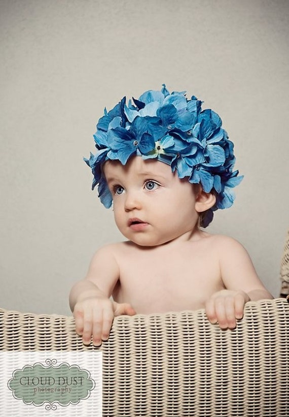 Beautiful Hydrangea Hat.....Sizes Newborn-2T Available....Many Colors to Choose From
