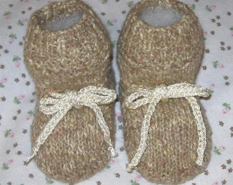 Pretty in Tweed Little Girl's Baby Booties