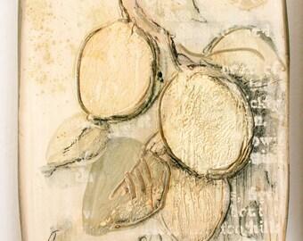 SALE. Apricots. Decorative tile composition