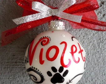 Pet Name Christmas Ornament