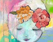BLISS - Oh So Sweet Mixed Media Art - PRINT- by Carissa Paige
