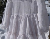 Vintage Cotton Baby Dress 12 Months