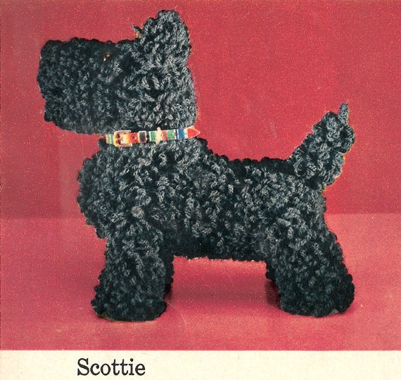 PDF Vintage Crochet Pattern SCOTTIE Dog