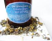 Herbal Botanical Sea Salt Scrub - Organic Chamomile and Lavender - Dreamy Stars - Handmade Skin Care//  4 oz