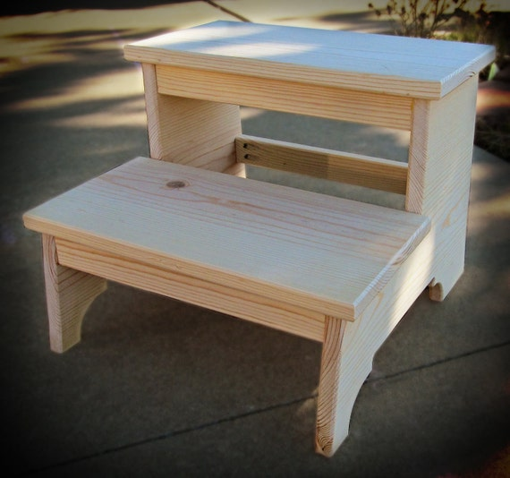 Unfinished Solid Pine Child S Two Step Stool