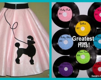 Gorgeous Ladies Custom Made to Order Patty poodle skirt Your choice of Size and Color S,M,L,XL,2X,3X,4X,5X Prices from 65.00 and up!