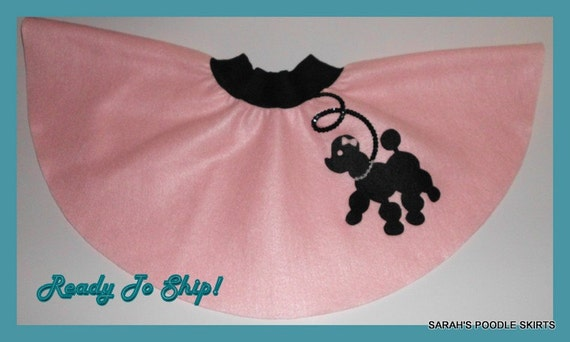 "New Toddler 1t-2t Baby Pink Prancing Poodle Skirt ""Ready To Ship"""