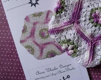 PDF Pattern - Thread Crocheted Hexagon Potholder Hotpad