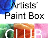 SPECIAL TODAY ONLY The Paint Box Club, 3 month subscription, hand dyed fiber, roving
