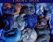 Artists' Paint Box HARVEST NIGHT Ltd Edition 5 oz of Fiber from Assorted Spindies Artists FREE US SHIPPING Navy, Blue,