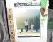 SALE 25% off - Friends beach glass photo frame