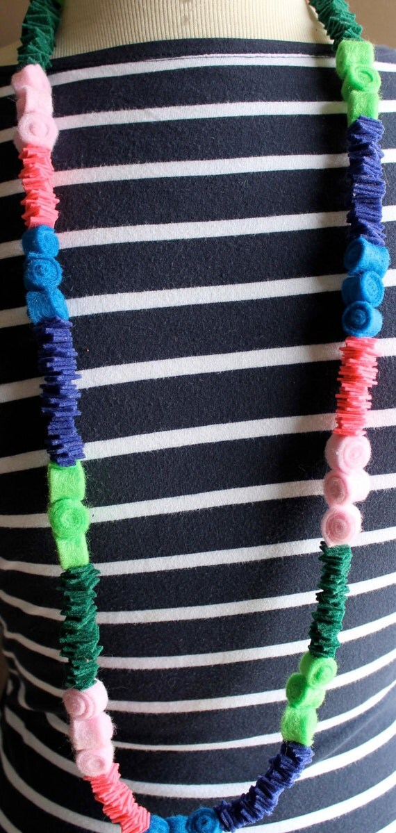 SALE-20% OFF-Neon Candy Felt Necklace