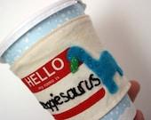 Veggiesaurus cup cozy
