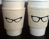 His and Hers retro cup cozies