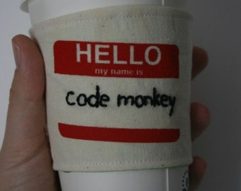 Code Monkey's cup sleeve