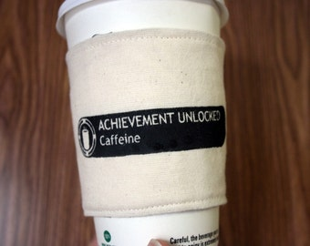Achievement Unlocked - Caffeine cup cozy