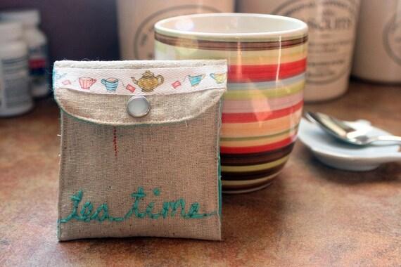 Tea Bag/Sweetener cozy.