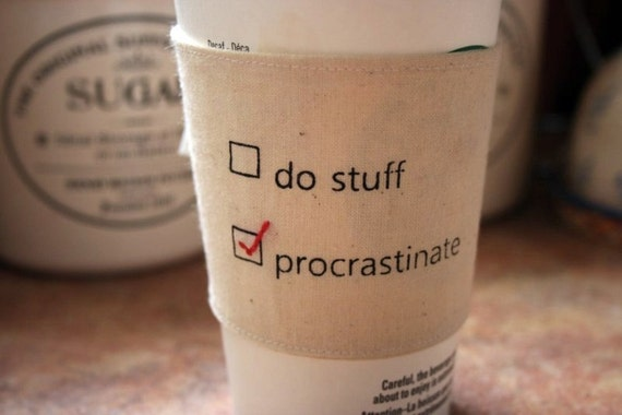 Reversable Slacker or Go-Getter cup cozy