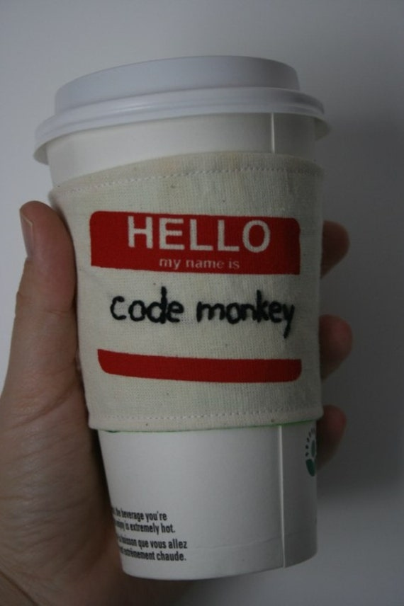 Code Monkey's cup sleeve
