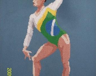 Gymnast Cross-Stitch, Juliana Santos