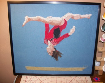 Gymnast Cross-Stitch Jordyn Wieber USA