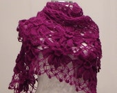 Purple Flower Shawl
