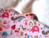 Pink Zoo Blanket for Baby / Toddler for stroller, carseat, home